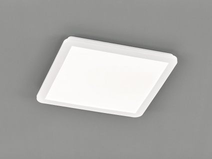 LED Deckenleuchte CAMILLUS flache Badezimmerlampe Eckig 40x40cm in Weiß IP44