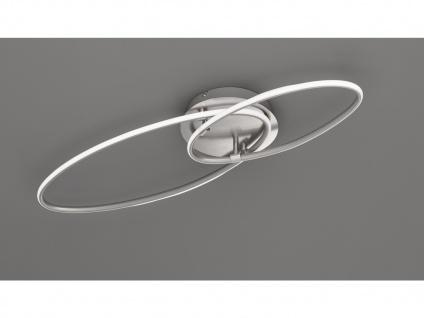 Große LED Deckenlampe mit Dimmer ovale flache Ringleuchte für Wohnzimmer Galerie - Vorschau 4