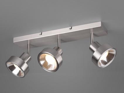 RETRO LED Deckenstrahler 3-flammig Silber Beleuchtung Flur, Diele &Treppenhaus
