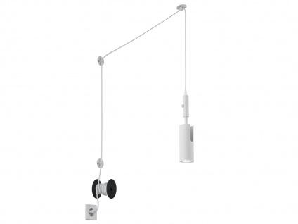 Hängelampe Weiß matt mit Kabel & Stecker für Steckdose Spot schwenkbar Leselicht - Vorschau 2