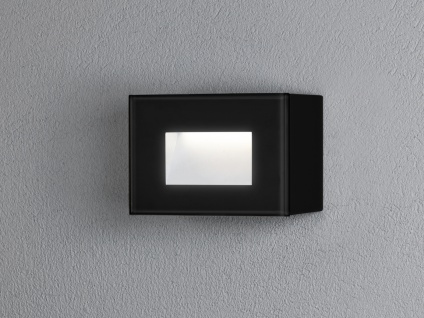 LED Wandspot Unterputz Außenwandleuchte Auf-& Einbauleuchte schwarz IP54 12x8cm