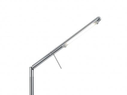 Ausgefallene stufenlos dimmbare LED Schreibtischlampe 85 cm hoch in Nickel matt - Vorschau 4