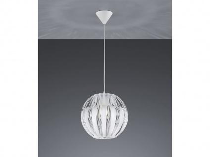 LED Hängeleuchte Kugelpendel 1 flammig weiß Ø30cm über Kücheninsel EsstischLAMPE