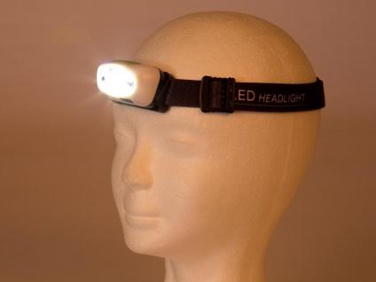 Wiederaufladbare Stirnlampe Kopflampe Outdoor mit weißen CREE LEDs, SOS Funktion - Vorschau 4