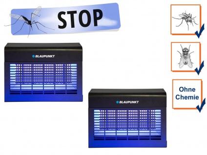 2er Set Insektenvernichter elektrisch UV Licht, Stechmücken bekämpfen bis 150 m²