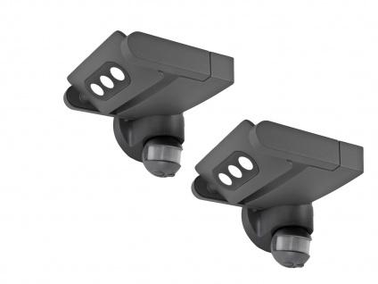 2er Set Außenwandleuchte mit Bewegungsmelder IP65 drehbar LED Wandleuchten