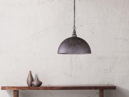 Stylishe Pendelleuchte im Industrial Style - Lampenschirm Metall Rostoptik antik