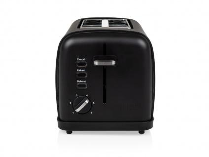 Kompakter Design Toaster Edelstahl Schwarz matt Aufwärm- & Auftaufunktion 950W - Vorschau 3