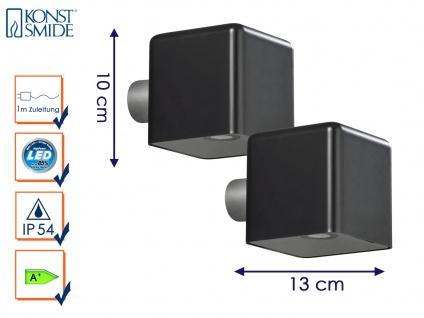 2er-Set LED Außenwandleuchte AMALFI, schwarz, Wandleuchte Wandstrahler Wandspot