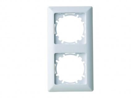2-fach Rahmen/Schalterblende aus Kunststoff, in polarweiß, GAO