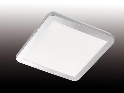 Viereckige LED Deckenleuchte für den Innenbereich - dimmbare Badlampe, IP44 weiß