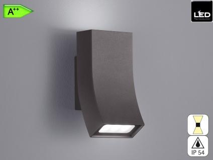 Außen-Wandleuchte OKA, anthrazit, UP/Down 2 x 3 Watt, IP54, 17x8cm