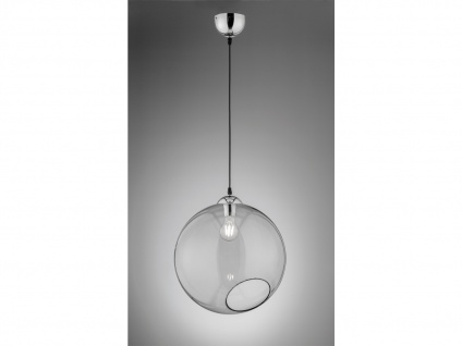 Pendelleuchte Kugellampe Rauchglas Ø35cm einflammig für Esstisch Kochinsel Küche