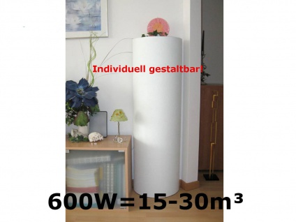 B-WARE: Bemalbare Infrarot Heizsäule 600 Watt, Infrarotheizung Elektroheizkörper