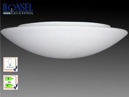 Bad Deckenleuchte Wandlampe Opalglas Ø 42cm, IP44 Badezimmer, Honsel-Leuchten