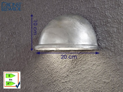 Konstsmide Wandleuchte Downlight TORINO galvanisiert Beleuchtung außen Terrasse