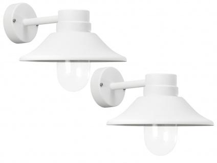 2er-Set LED Außenwandleuchten VEGA, dimmbar, 700 Lm, Aluminium weiß