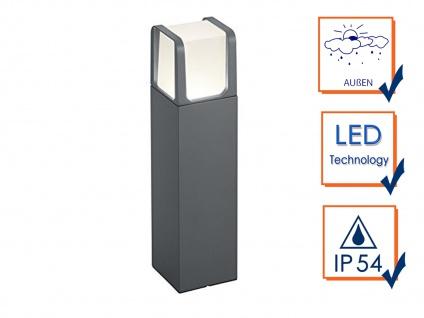 40cm hohe LED Gartenbeleuchtung aus ALU in anthrazit, moderne Gehwegleuchte IP54 - Vorschau 3