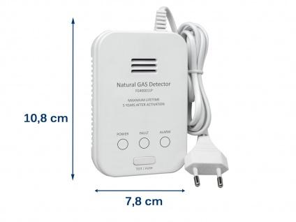 Gasmelder für Methan Gaswarnmelder mit Zuleitung & Magnetmontage 85dB Alarm - Vorschau 3