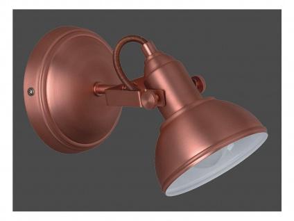 LED Wandspot im Retro Look aus Metall in Kupfer dreh + schwenkbar Wandstrahler - Vorschau 2