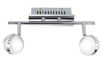 LED Deckenleuchte, Deckenstrahler Retro, Spots schwenkbar, Chrom, Wofi-Leuchten - Vorschau 2