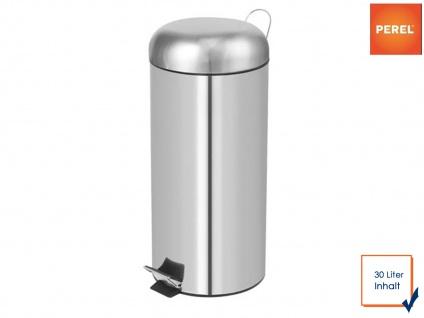 Mülleimer 30 Liter Chrom Treteimer Abfalleimer Abfallsammler Müllsammler - Vorschau 1