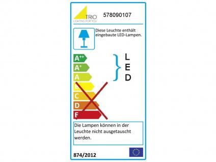 LED Tischleuchte dimmbar, Metall in Nickel matt Schirm aus Stoff & Acryl in weiß - Vorschau 4