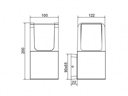 2 LED Gehwegleuchten aus ALU in anthrazit moderne Fassadenbeleuchtung H20cm IP54 - Vorschau 5