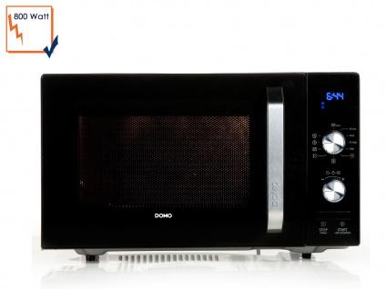 Mikrowelle 800 Watt Drehteller Auftaufunktion Schlusssignal 95 min Timer Domo