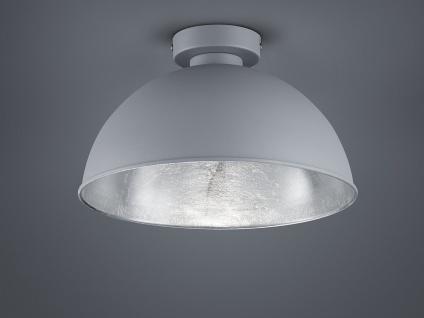 Retro LED Deckenleuchte für Esszimmer Design Deckenlampe in grau + innen silber