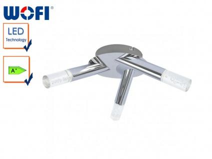 3-fl. LED-Deckenleuchte, Chrom / Acryl m. Blasen, Wofi-Leuchten