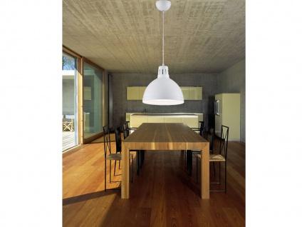 Retro LED Hängelampe dimmbar mit rundem Metall Lampenschirm Ø30cm in Weiß matt