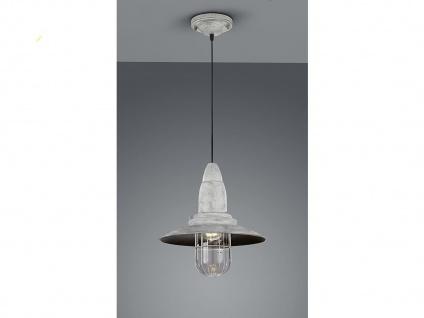LED Hängelampe grau antik Lampenschirm Glas 32cm, Retro Pendelleuchte Vintage - Vorschau 5