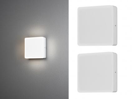2er SET LED Deckenlampe für Außen eckige Wandlampe mit Dämmerungssensor 16x16cm