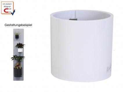 Kunststofftopf mit Magnet Ø 10 cm, Weiß, Wandaufbewahrung Wanddeko, KalaMitica