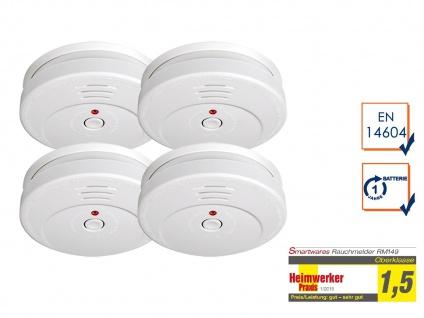 4er SET Smartwares Rauchwarnmelder TÜV zertifiziert - Brand Feuer Melder Alarm