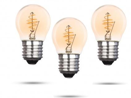 3x LED Leuchtmittel Globe 3 Watt 150 Lumen 2000 Kelvin E27-Sockel Filament LED - Vorschau 2