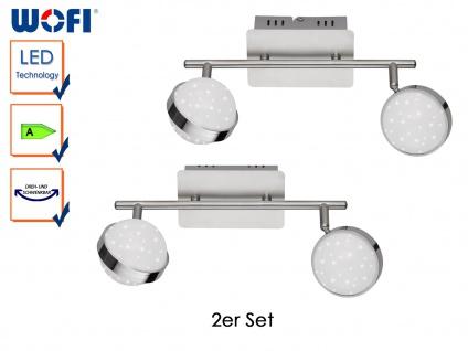 2er Set LED Deckenbalken MONDE, Sterndesign, Deckenleuchten Deckenlampen LED - Vorschau 1