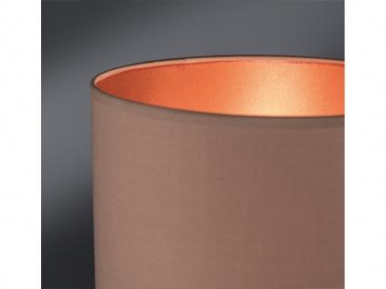 Dekorative Honsel Keramik Tischleuchte 46cm Braun mit Design Lampenschirm Textil - Vorschau 5