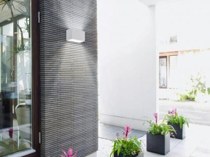 LED Würfel Außenwandleuchte Weiß mit Up and Down IP54 Außenleuchten für Hauswand