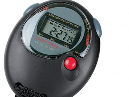 Wasserfeste Sport Stoppuhr mit Zwischenzeit, Uhrzeit / Datum und Alarmfunktion - Vorschau 3