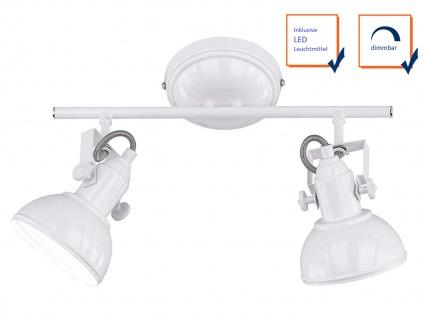 Deckenspot im Retro Look aus Metall in Weiß dreh-und schwenkbar Wandstrahler E14 - Vorschau 3