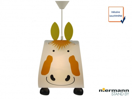 LED Kinderzimmer Deckenleuchte Lampenschirm Pferd Kinderleuchte Pendelleuchte