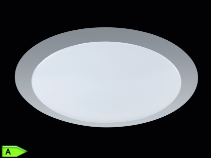 TRIO LED-Deckenlampe, ink. 12W SMD-LED, 700Lm, Ø 35cm, titanfb.