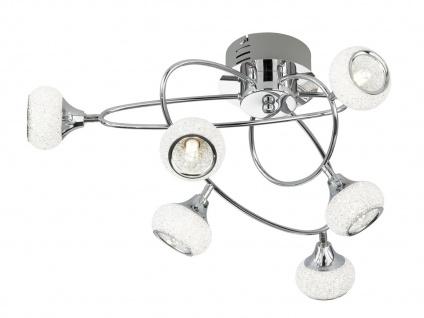 Deckenleuchte Chrom poliert 6 Spots G9, Deckenleuchte Wohnzimmer Dielelampen