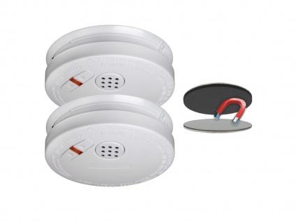 2er Set Rauchmelder 10 Jahre Batterie + Magnethalterung mit VdS & Q-Siegel Brand - Vorschau 2