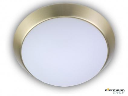 Flurleuchte Dielenbeleuchtung Deckenschale rund Ø45cm Opalglas Messing matt NEU