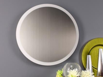 Angesagte LED Innenlampe für Wand und Decke mit Spiegel Design Silber rund 50cm