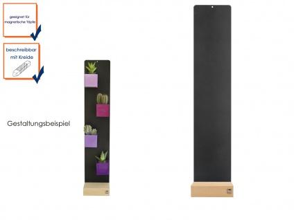 Wandaufbewahrung Wanndeko Memoboard Magnettafel Metall 14 x 74 cm, KalaMitica