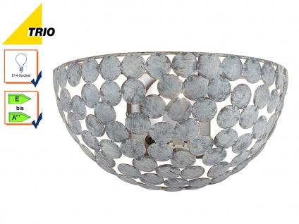 Wandleuchte Wandlampe FRIEDA Metall grau anitk Breite 28cm E14-Fassung